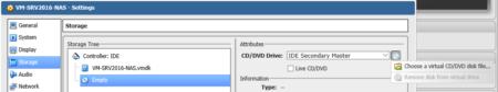 Sélectionnez l'icone de disque à droite pour rechercher votre fichier ISO