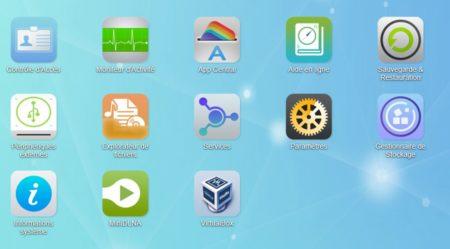 Une icône VirtualBox est disponible sur le bureau du NAS
