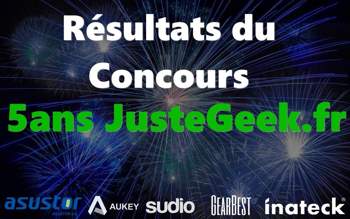 Résultats Concours 5ans JusteGeek