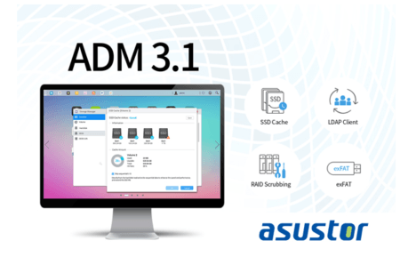 ADM 3.1 : nouvelle version du système d'exploitation des NAS Asustor