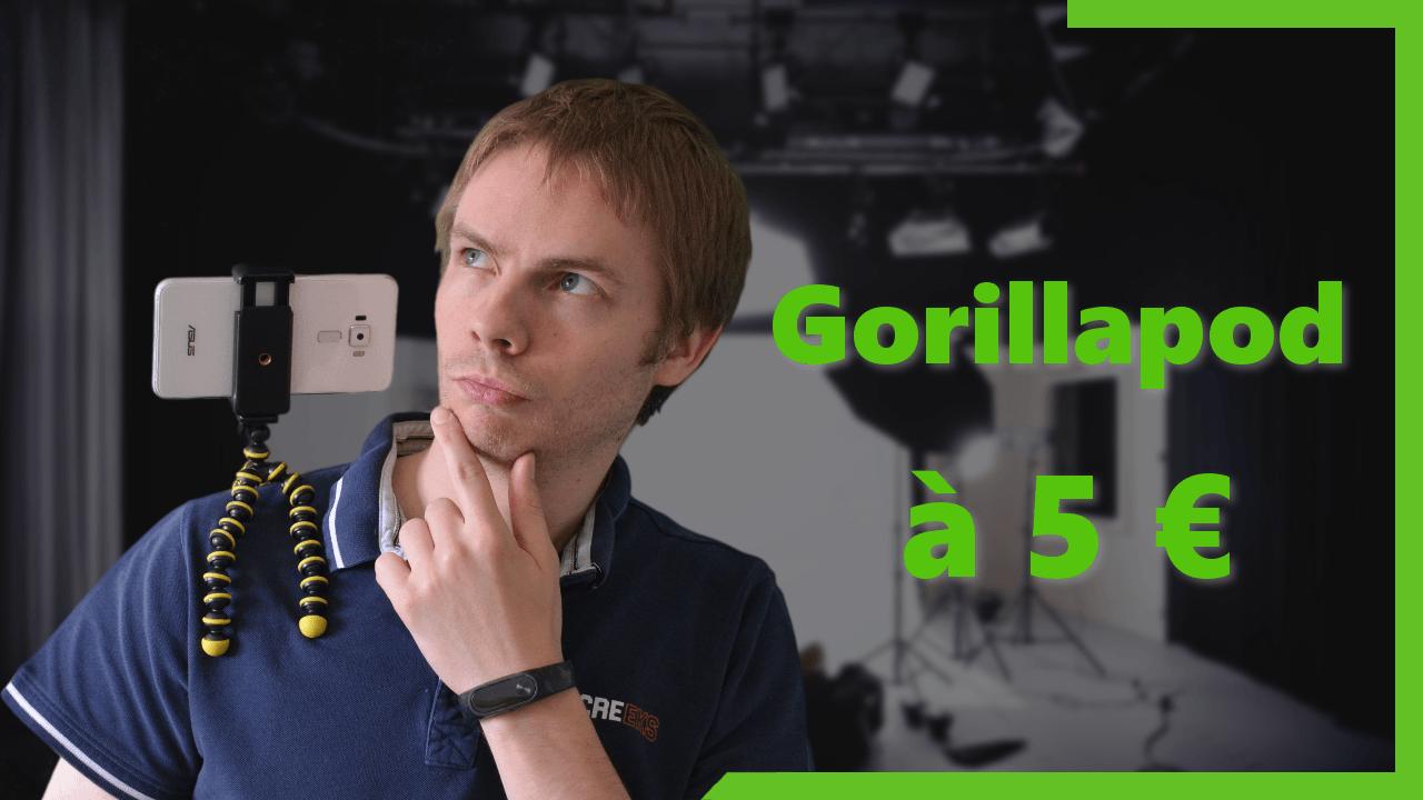 Un Gorillapod pour smartphone et action cam à 5 euros