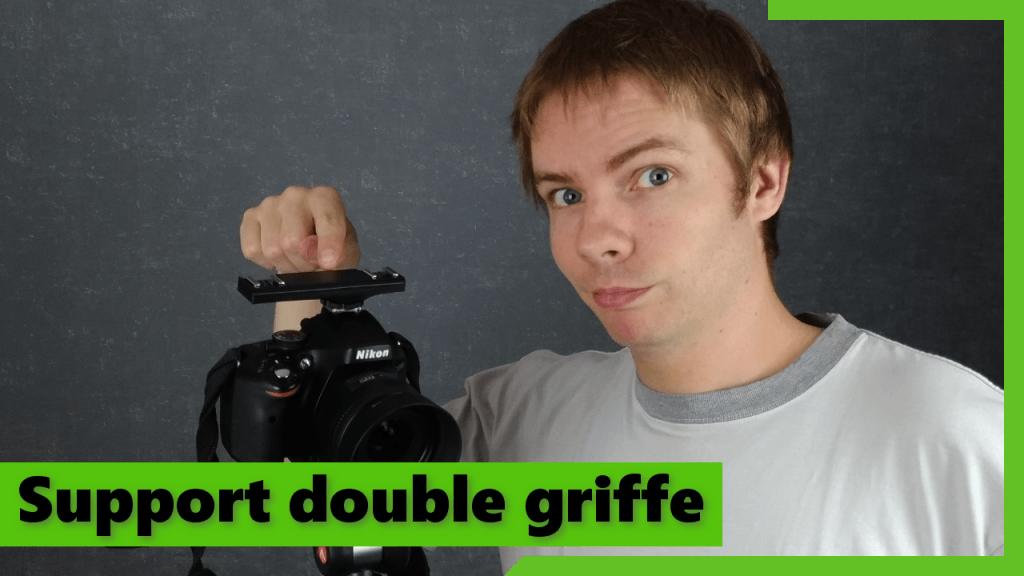 Support double griffe pour reflex