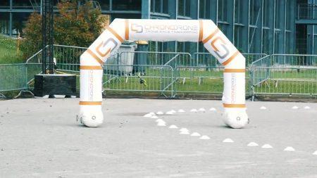Course de drone lors du Festidrone 2018