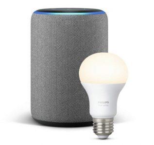 Echo Plus (2ème génération) avec ampoule Hue