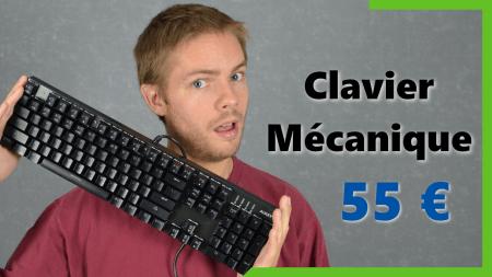 Clavier mécanique Aukey pour gamer à 55 €