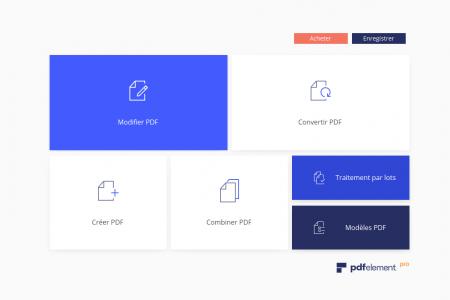 PDFelement : la page d'accueil de l'application