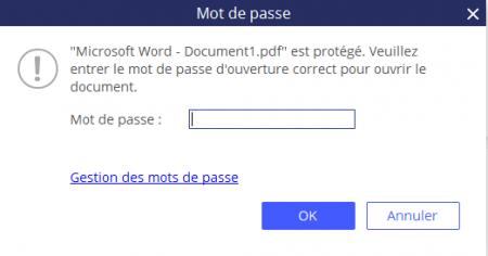 PDFelement : la protection des PDF par mot de passe
