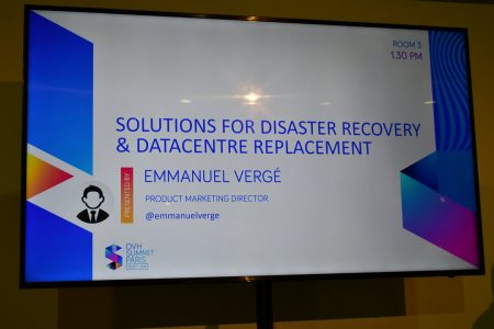 OVH Summit 2018 : Disaster Recovery