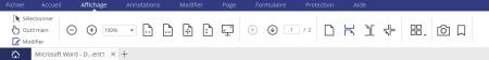 """PDFelement : le menu """"Affichage"""""""