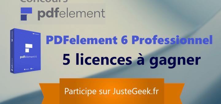 Concours : 5 licences PDFelement 6 Professionnel à gagner