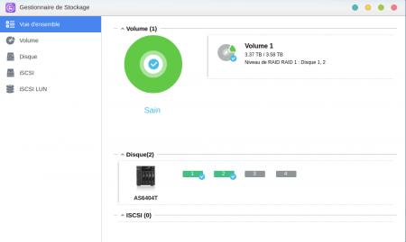 ADM : Mes deux disques étaient configurés en RAID1