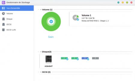 ADM : le troisième disque apparaît dans le gestionnaire de stockage