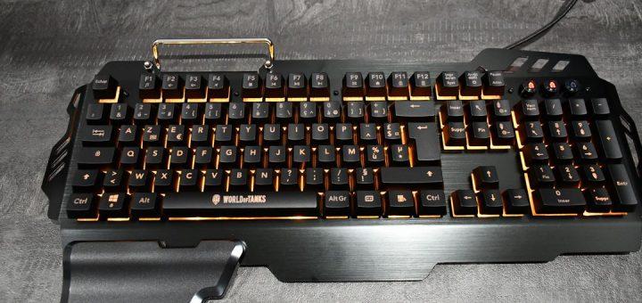 Konix K-50 : le clavier semi-mécanique à l'effigie de World Of Tanks