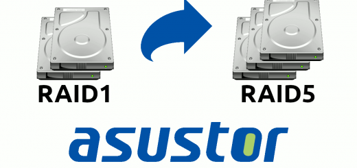 Asustor : modifier son RAID level