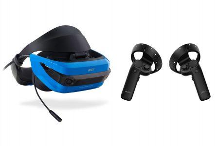 Le casque VR Acer et ses 2 contrôleurs