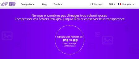 """WebsitePlanet : cliquez sur """"Glissez..."""" pour charger votre image"""