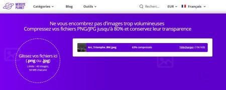 WebsitePlanet : Patientez pendant la compression
