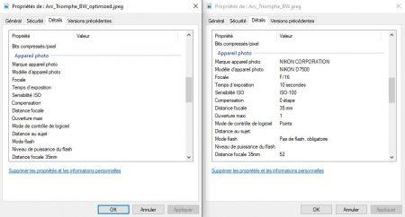 ImageCompressor ne conserve pas les données EXIF