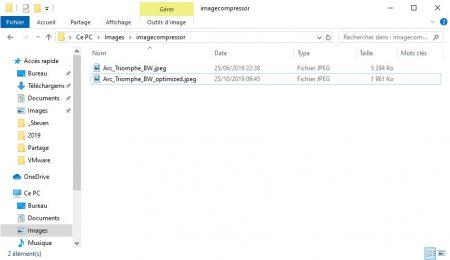 Résultat de la compression d'images de WebsitePlanet