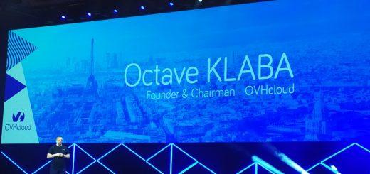 Octave KLABA sur la scène de l'OVHcloud Summit 2019