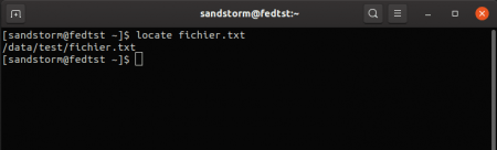 Rechercher un fichier avec locate