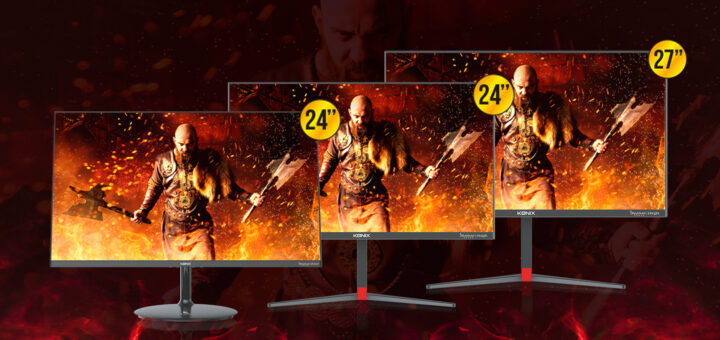 Konix présente 3 écrans gaming Drakkar