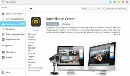 Surveillance Center dans AppCentral