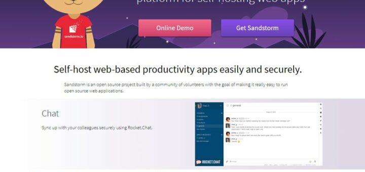 Le site web de Sandstorm.io