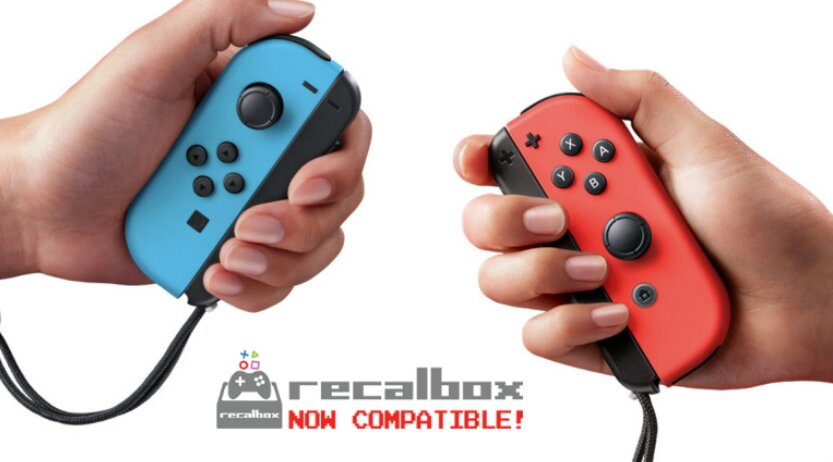 La Recalbox 7.2 supporte les JoyCon de la switch