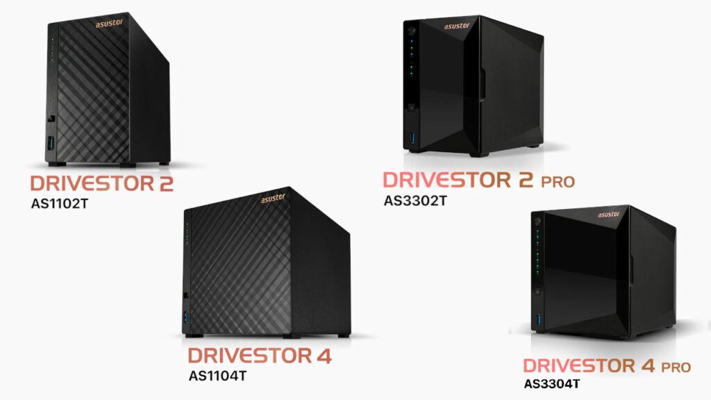Les 4 NAS de la gamme Drivestor